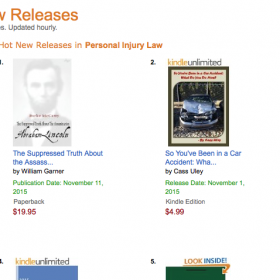William Dean A. Garner's Version Of The Suppressed Truth About the Assassination of Abraham Lincoln: Amazon's #1 Hot New Release In Personal Injury Law